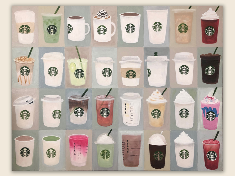 Starbucks oil painting